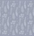 botany seamless pattern vector image vector image