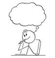 cartoon creative man or businessman or writer vector image vector image