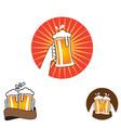 cheers beer graphic element set vector image