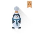 Christmas Penguin Retro Color vector image
