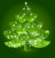 christmas tree festive icon vector image