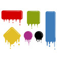 color dropping shapes vector image