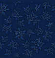 colorful seamless pattern hand drawn navy-blue vector image