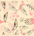 contemporary floral seamless pattern cute vector image