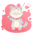 Cute cartoon cat toy card vector image vector image