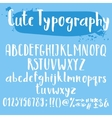 Cute typogrpahy letters set vector image vector image
