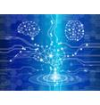 digital brain genius vector image