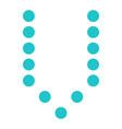 digital letter v display board round dot vector image vector image