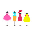 dresses collection poster vector image