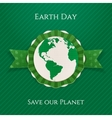 Earth Day circle Banner and festive Ribbon vector image