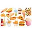 fast food cartoon icon vector image
