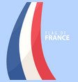 flag of france against dark background vector image vector image