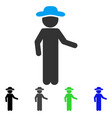 gentleman invitation flat icon vector image vector image