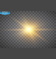 glow light effect starburst with sparkles on vector image vector image