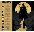 Halloween infographic template vector image vector image