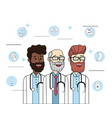 happy doctosr with stethoscope and diagnosis vector image vector image