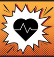 heartbeat sign comics style vector image