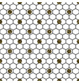 hexagon grid cells with glitter polka vector image vector image