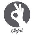 Human Hand design vector image vector image