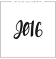 Inscription 2016 calligraphy on a white background vector image vector image