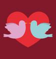 love birds design vector image