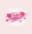 love concept and valentines day design vector image