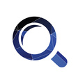 magnifier icon Abstract Triangle vector image vector image