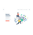 man and woman researching online market isometric vector image vector image