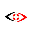 Medical logo icon eyes vector image