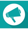 megaphone design over white background vector image vector image