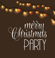 merry christmas party glowing background vector image vector image