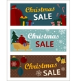 Merry Christmas Sale Tags in Retro Style vector image vector image