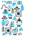 Natural gas production injection and storage vector image vector image