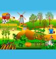new windmill farm vector image