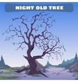 Old dead tree at night vector image vector image