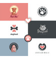 pet shop logo designs collection vector image vector image