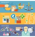 Pharmacist Banner Set vector image