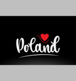 poland country text typography logo icon design vector image vector image