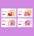quest game horizontal banners vector image vector image
