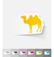 realistic design element camel vector image vector image