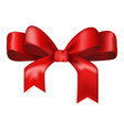 red ribbon bow tied knot vector image vector image