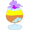 refreshing cocktail with ice vector image