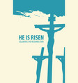 religious easter landscape with crosses vector image vector image
