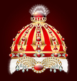 royal golden crown with an ornament vector image vector image