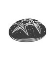 rye round bread glyph icon vector image vector image