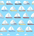 sea sail yachts seamless pattern vector image