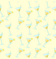 seamless pattern with exotic cocktails vector image vector image