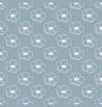 seamless pattern with white flowers on gray vector image vector image