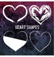 Set of four white heart shapes vector image
