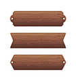 set of various wooden banners vector image vector image